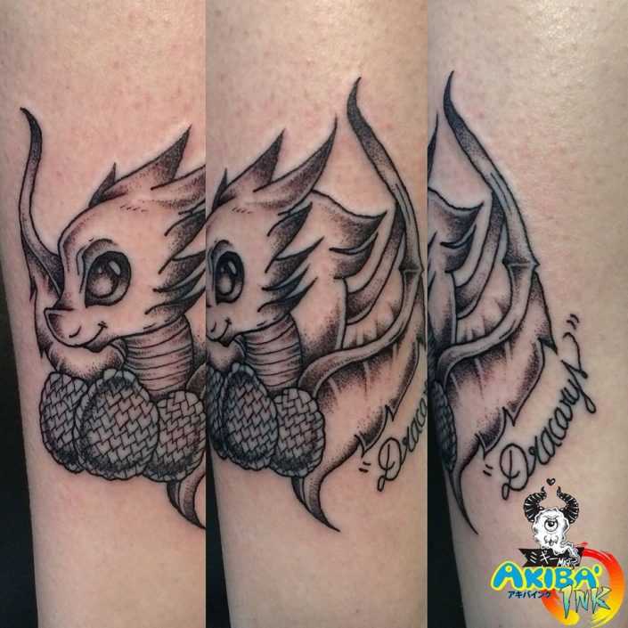 Dragon chibi tattoo Akiba'Ink Migi