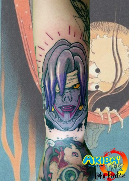 rem death note tattoo manga akiba'ink montpellier anime haku psychôse